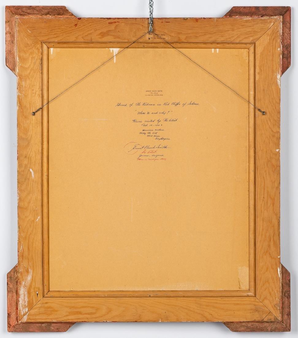 """Ernest B. Smith O/B Western Landscape """"Silence"""" - 8"""