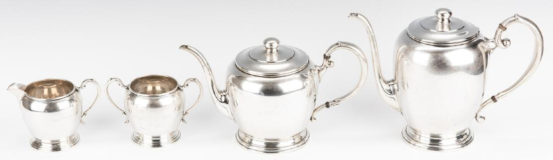 4 pc Manchester Sterling Coffee/Tea Set - 2