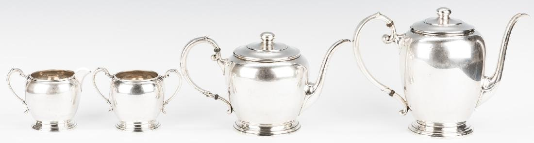 4 pc Manchester Sterling Coffee/Tea Set - 3