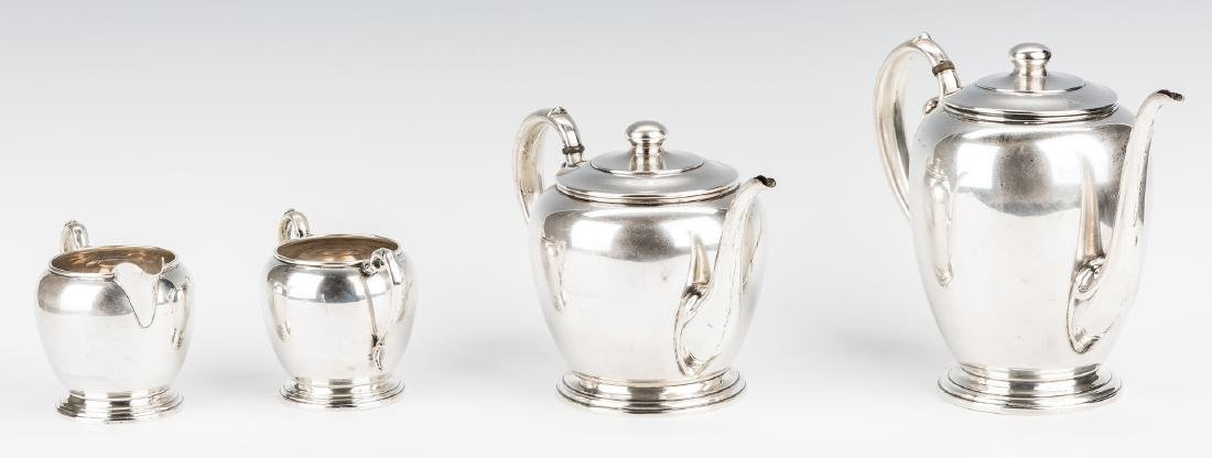 4 pc Manchester Sterling Coffee/Tea Set - 4