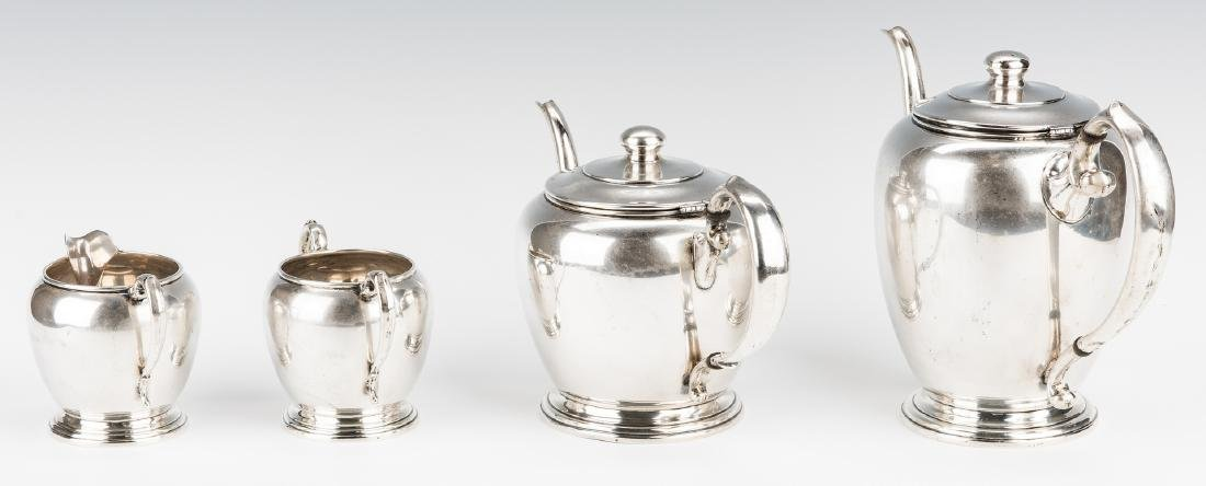 4 pc Manchester Sterling Coffee/Tea Set - 5