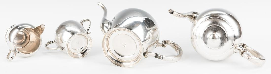 4 pc Manchester Sterling Coffee/Tea Set - 6