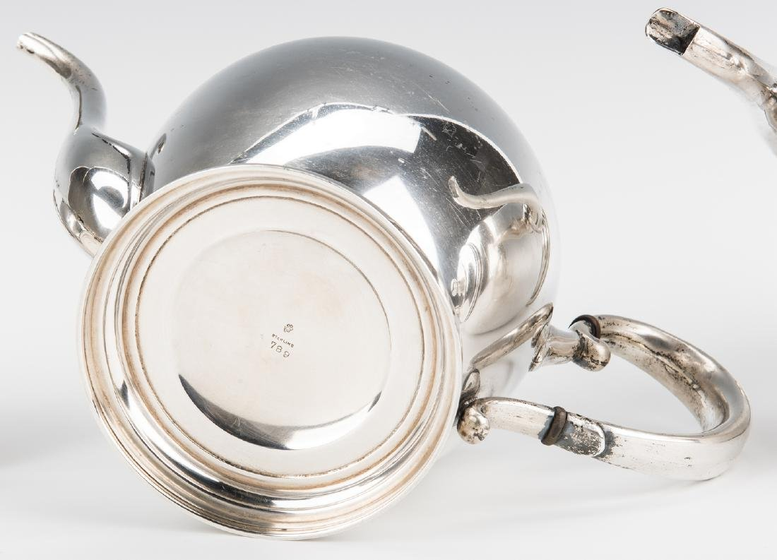 4 pc Manchester Sterling Coffee/Tea Set - 7