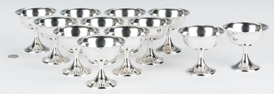 12 Gorham Sterling Sherbet Goblets