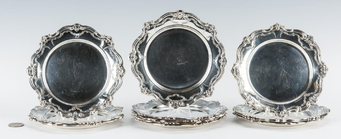 13 Gorham Sterling Chantilly Bread & Butter Plates - 8