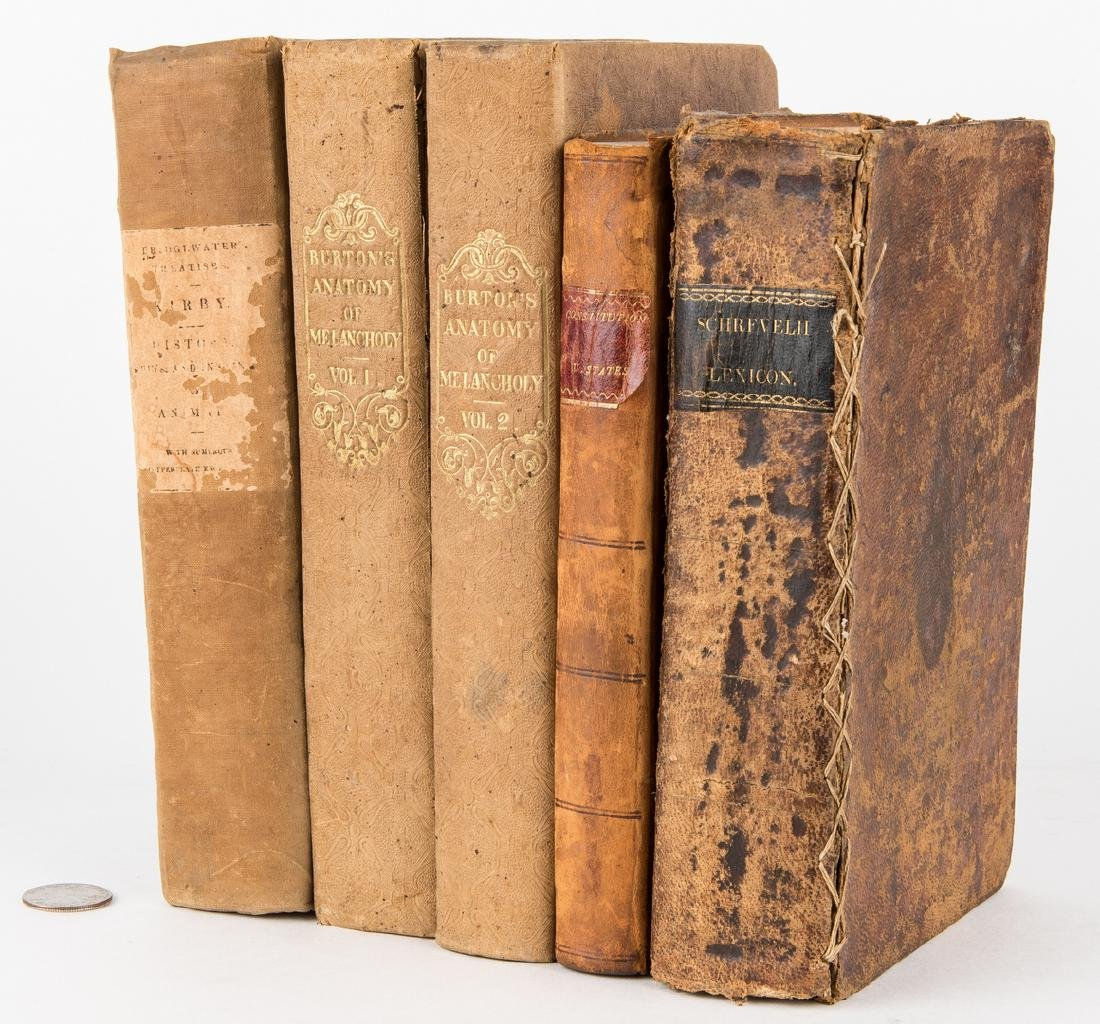 5 Abram Maury Owned Books, incl. Declaration of