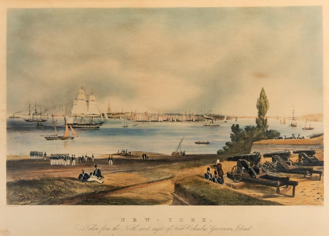 New York: View from Fort Columbus, Governors Island