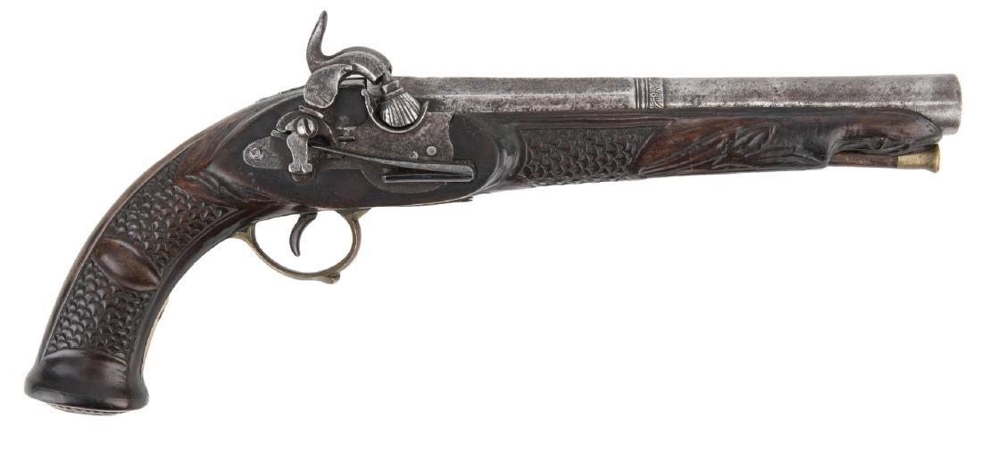 Portuguese Miquelet Lock Percussion pistol, .72 cal.