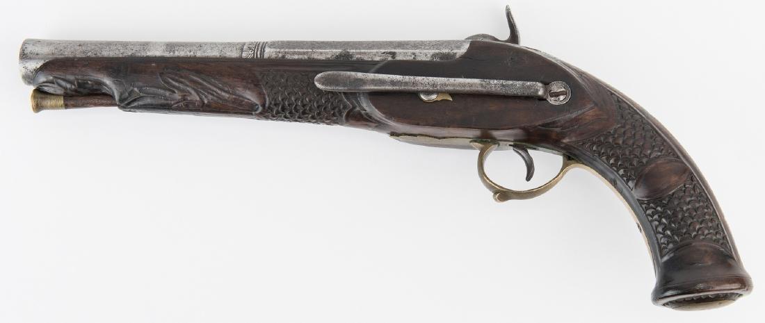 Portuguese Miquelet Lock Percussion pistol, .72 cal. - 2