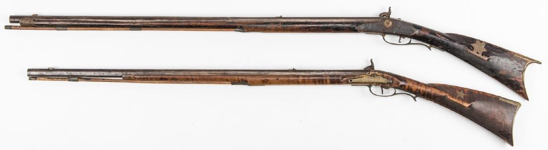 2 Kentucky Percussion Long Rifles