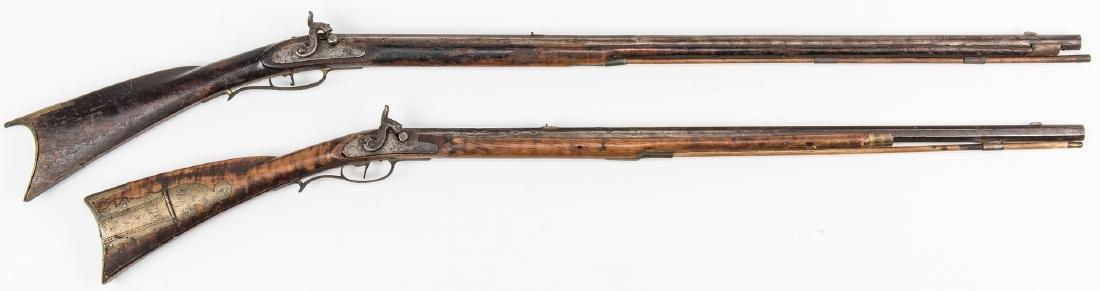 2 Kentucky Percussion Long Rifles - 4