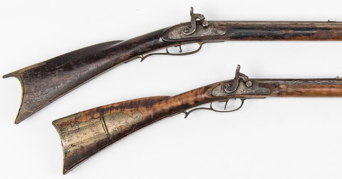 2 Kentucky Percussion Long Rifles - 5