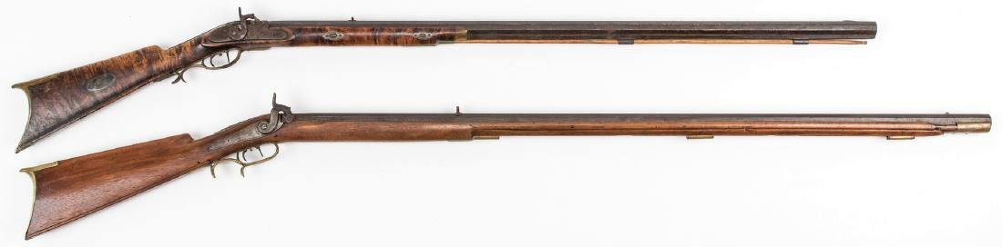 2 KY Percussion Long Rifles, incl. Pruitt Brother