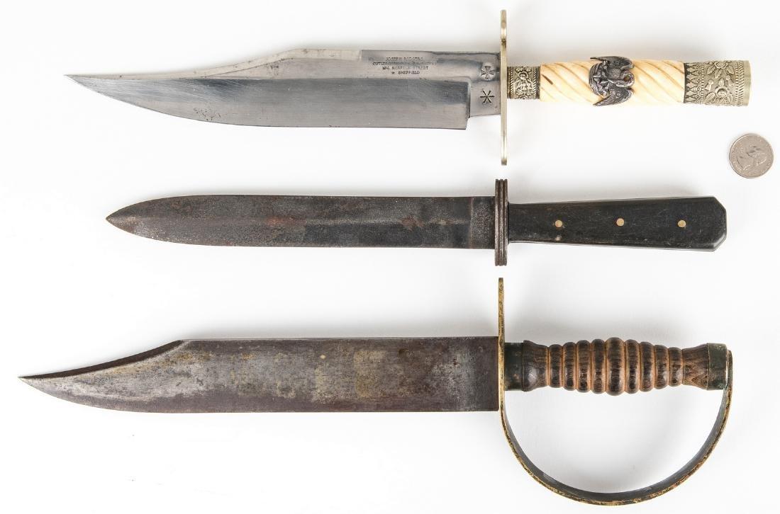 Three (3) 20th Century Reproduction CSA Style Knives