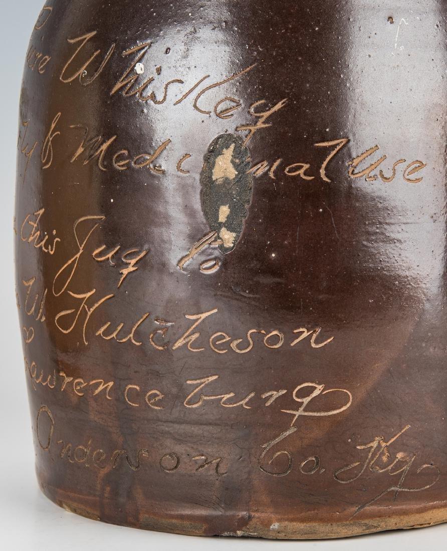 2 Kentucky Stoneware Whiskey Advertising Jugs - 10