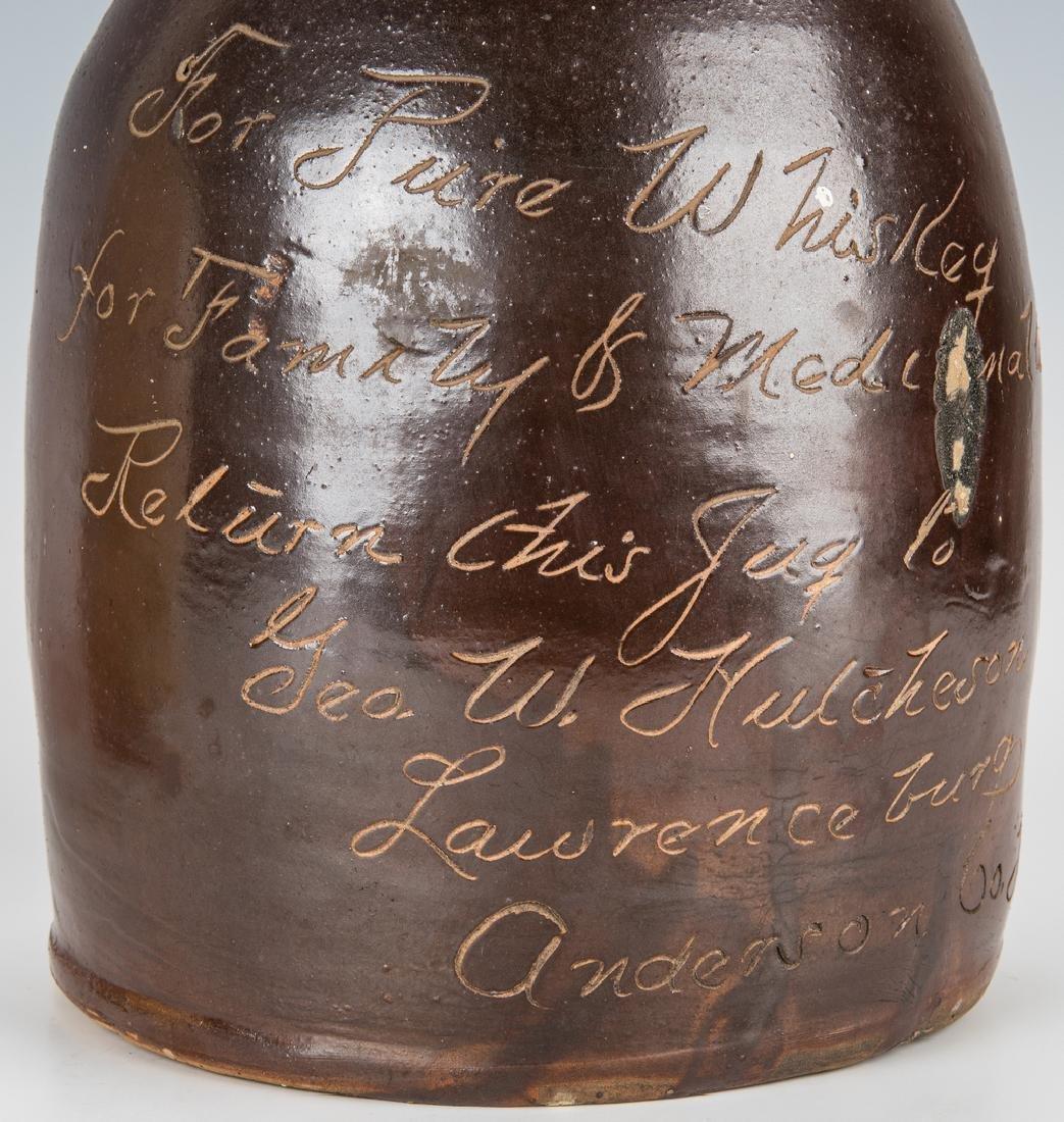 2 Kentucky Stoneware Whiskey Advertising Jugs - 9