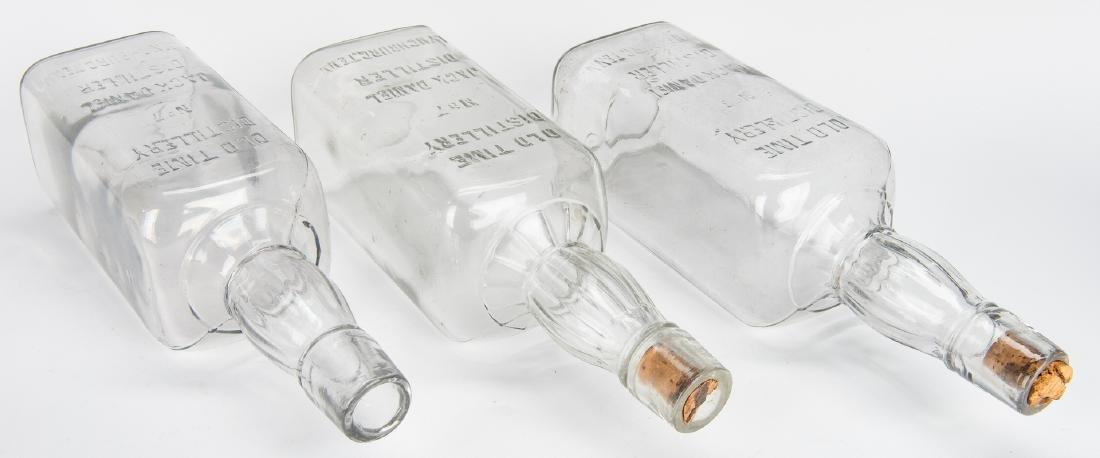 3 Jack Daniels Whiskey Bottles, Silverplate Holder & 2 - 10