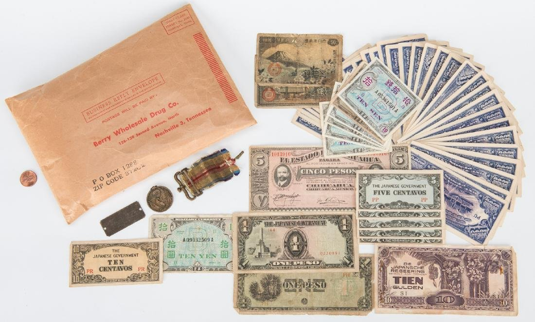324 Foreign Coins, Paper Currency, & Japanese Medal