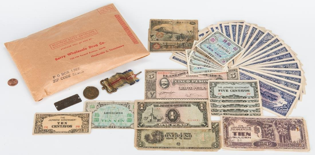 324 Foreign Coins, Paper Currency, & Japanese Medal - 2