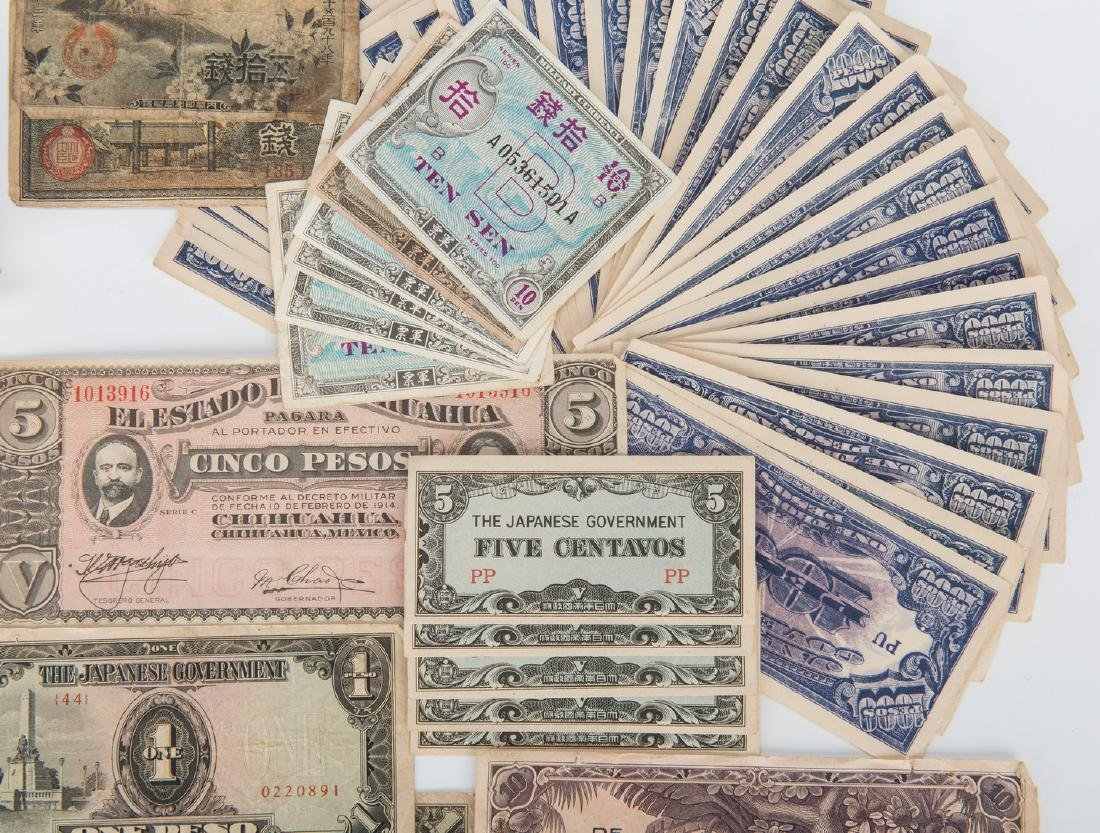 324 Foreign Coins, Paper Currency, & Japanese Medal - 3