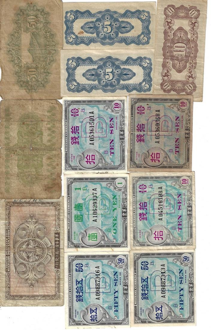 324 Foreign Coins, Paper Currency, & Japanese Medal - 7
