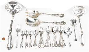30 Pcs Assorted Sterling Silver Flatware