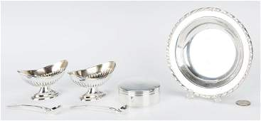 Group of Sterling Silver, incl. Boxed Salt Set
