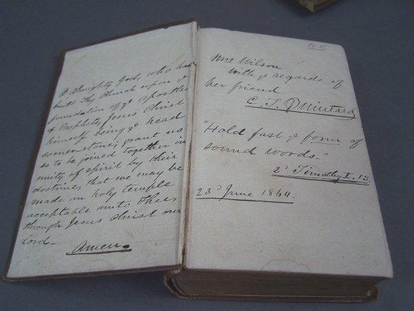 C.T. Quintard signed Book of Prayer, Confederate