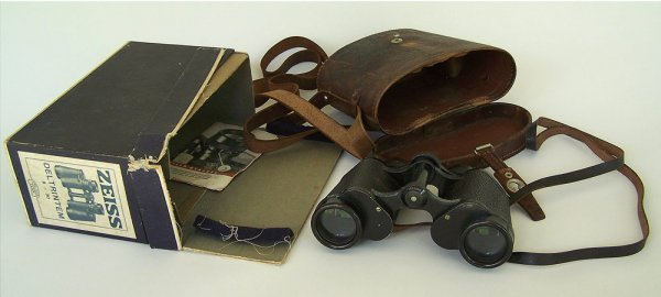 Carl Zeiss Field Glasses with case and box