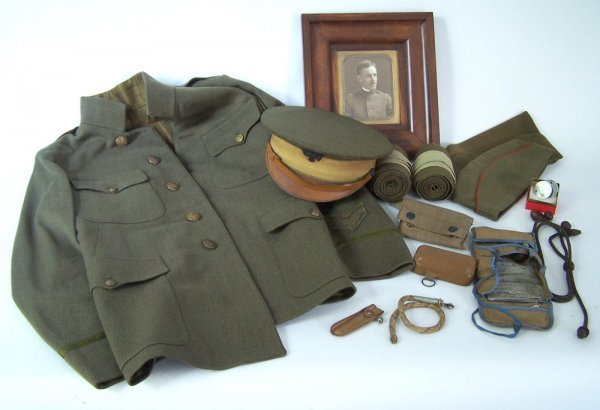 World War I Army Uniform And Personal Effects, Capt