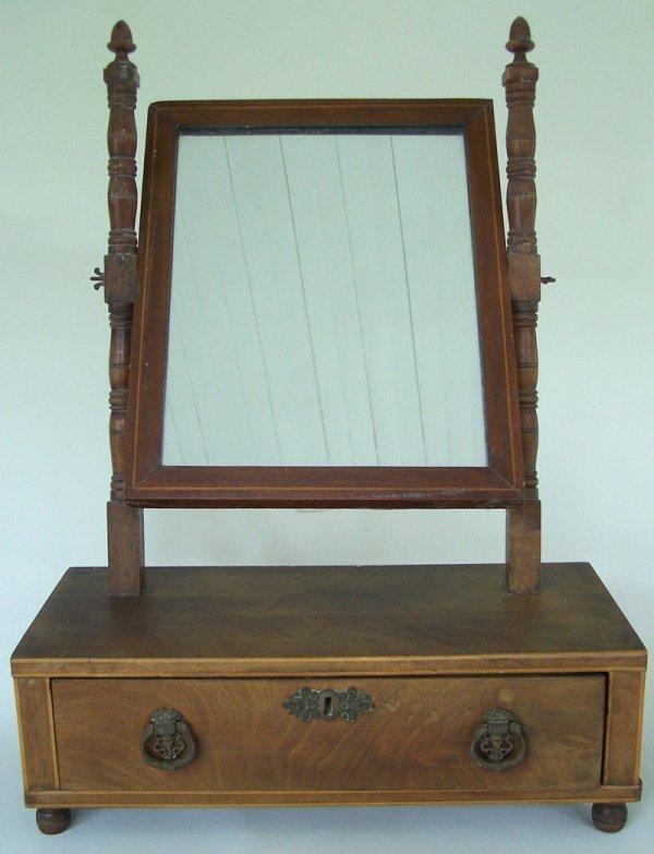 American shaving mirror, 19th century