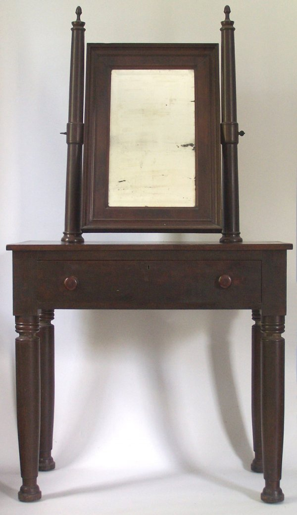 Tennessee tall classical dressing table with mirror