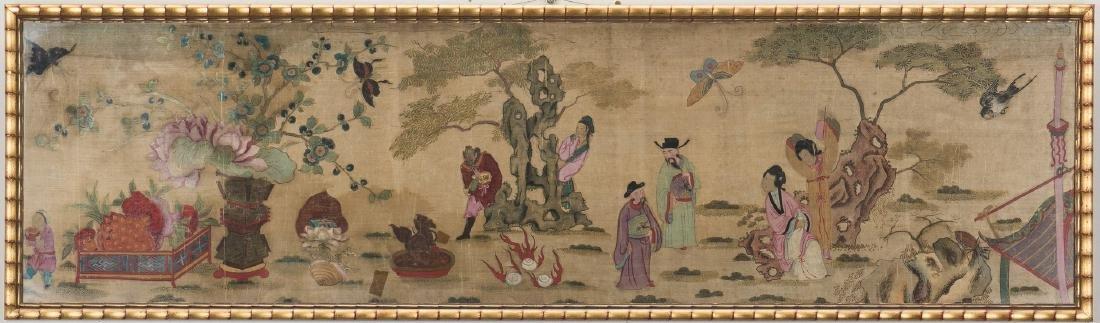 Panoramic Chinese Painting on Silk