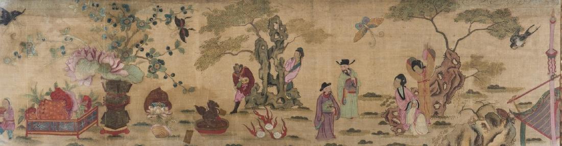Panoramic Chinese Painting on Silk - 2
