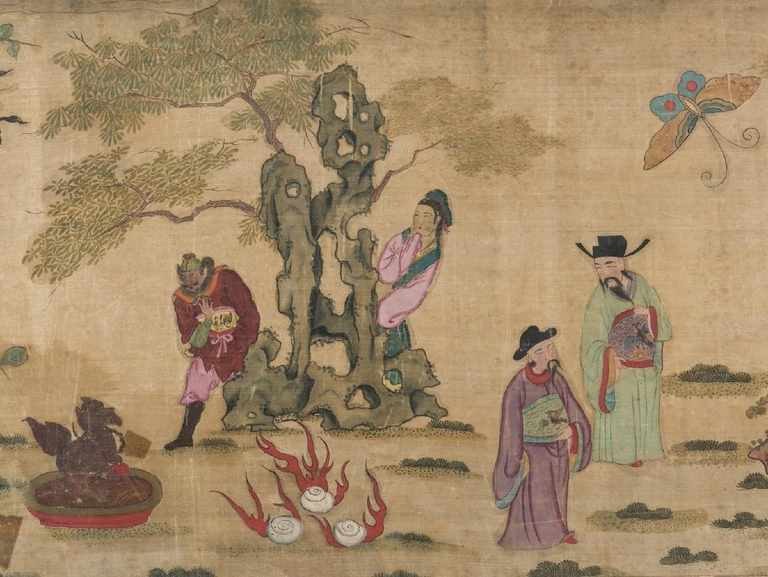 Panoramic Chinese Painting on Silk - 4