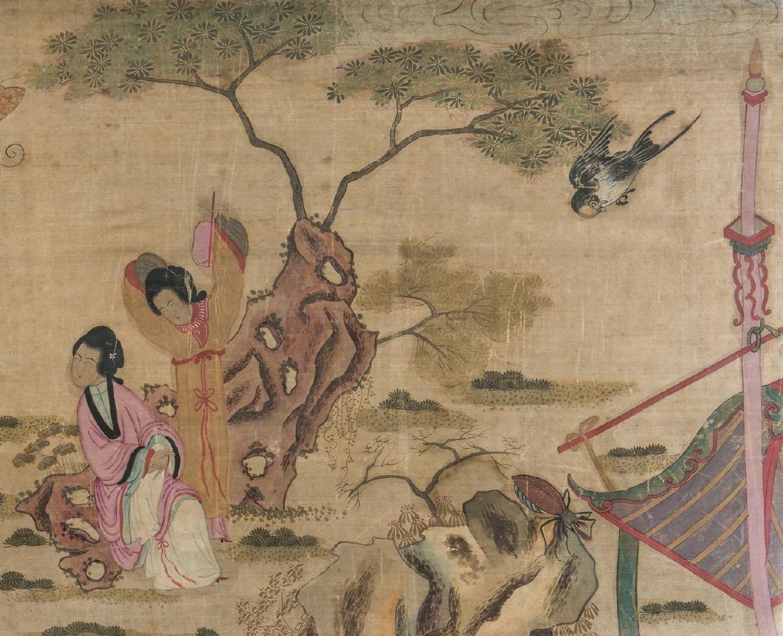 Panoramic Chinese Painting on Silk - 5