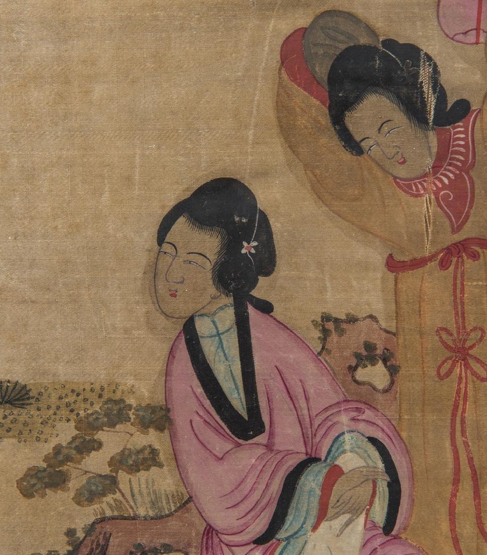 Panoramic Chinese Painting on Silk - 7