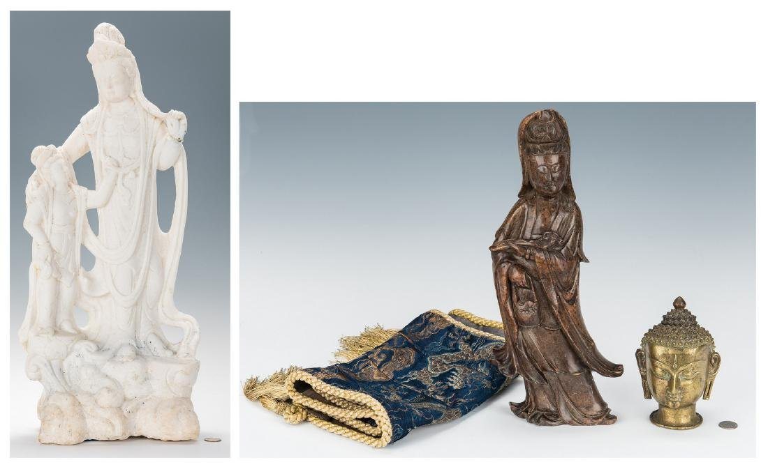 4 Asian Decorative Items, incl. Sculptures