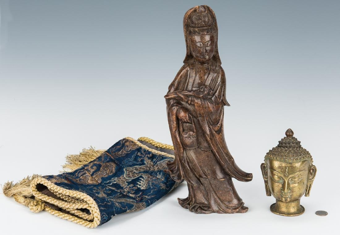 4 Asian Decorative Items, incl. Sculptures - 2