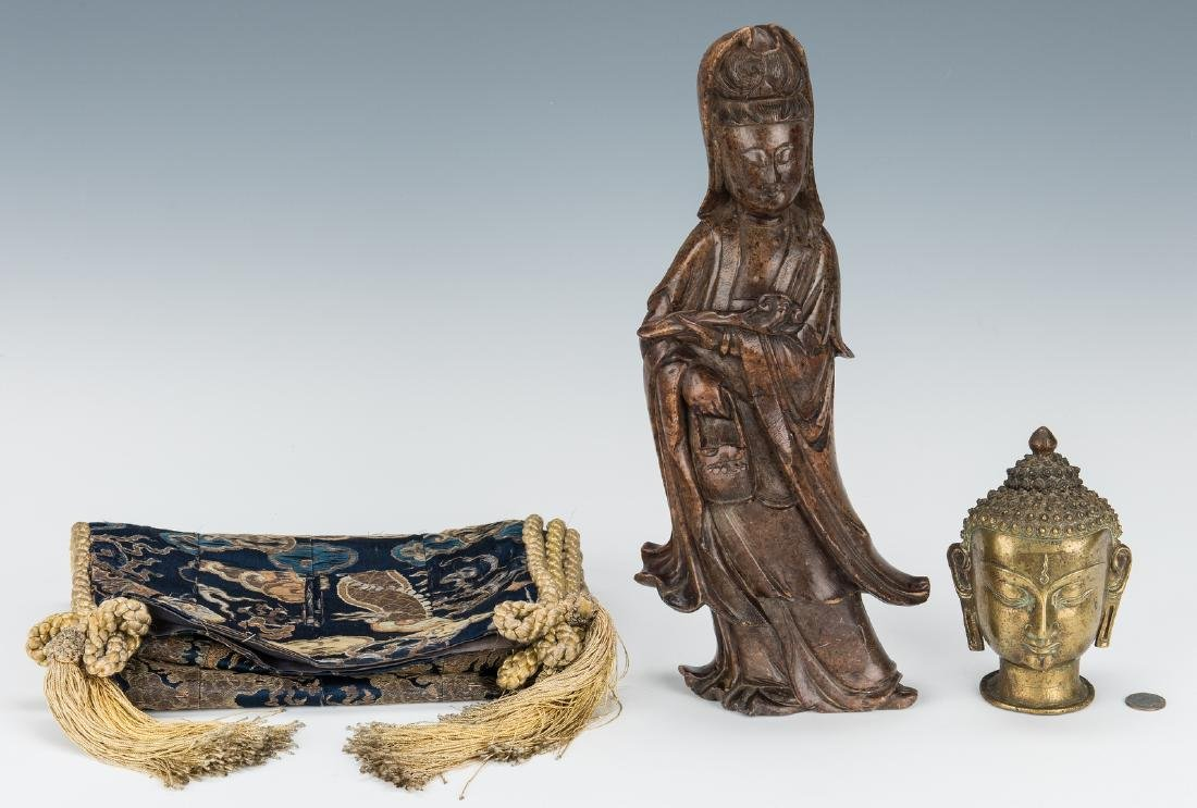 4 Asian Decorative Items, incl. Sculptures - 3