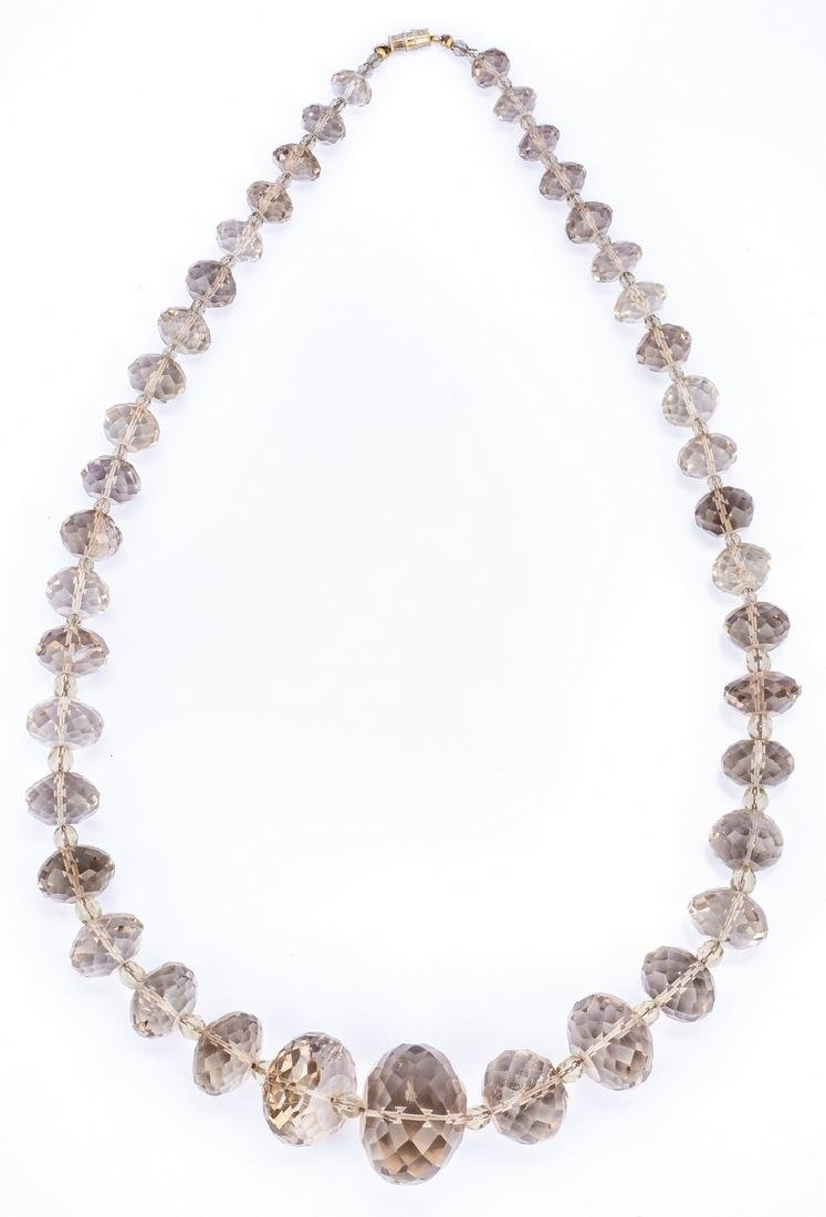 18k Donna del Sol Earrings; 2 Stone Necklaces - 2