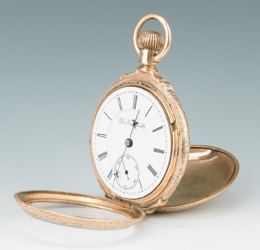 Elgin pocket watch; 10k Masonic pendant - 10