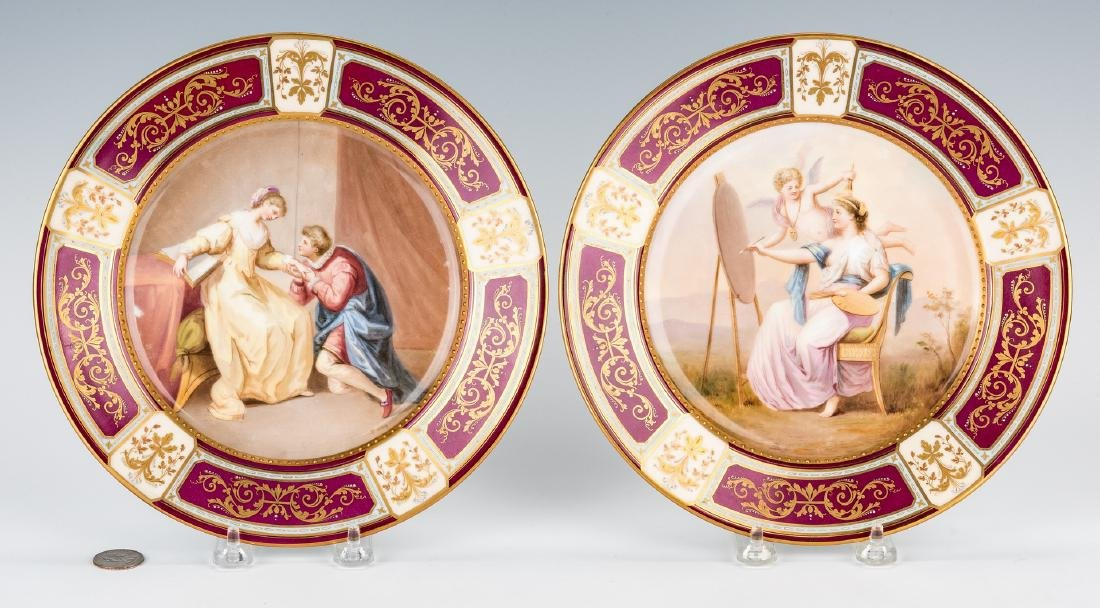 Pr. Royal Vienna Style Cabinet Plates signed Weh