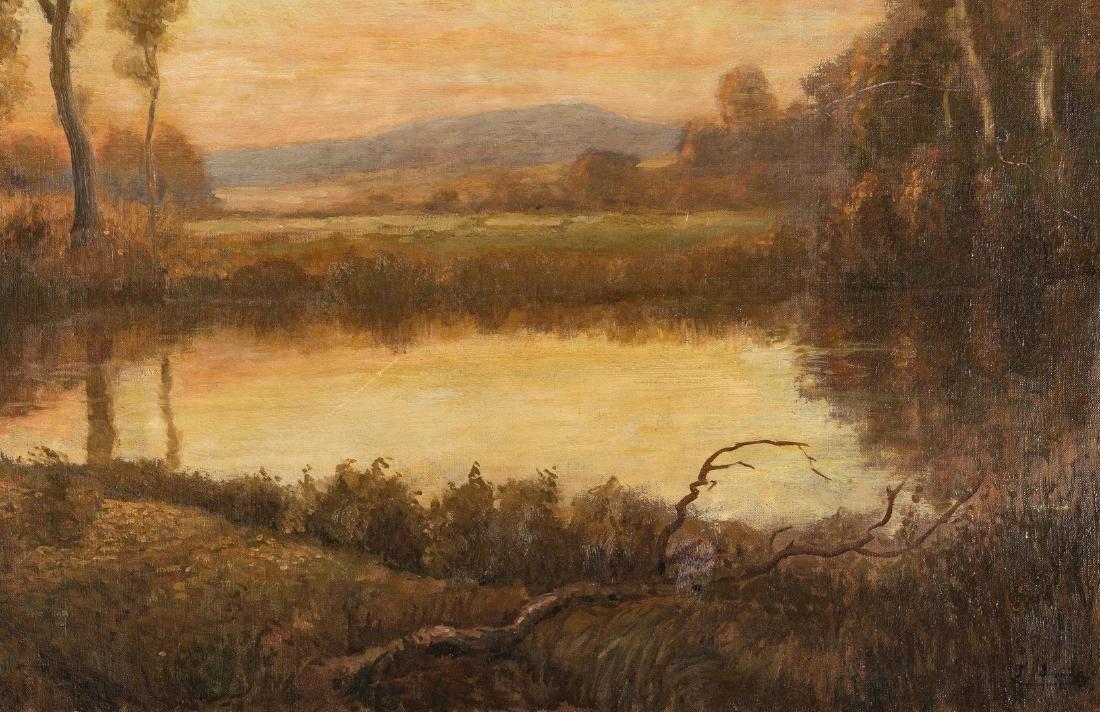 American School O/C, Deer at Pond Landscape - 6