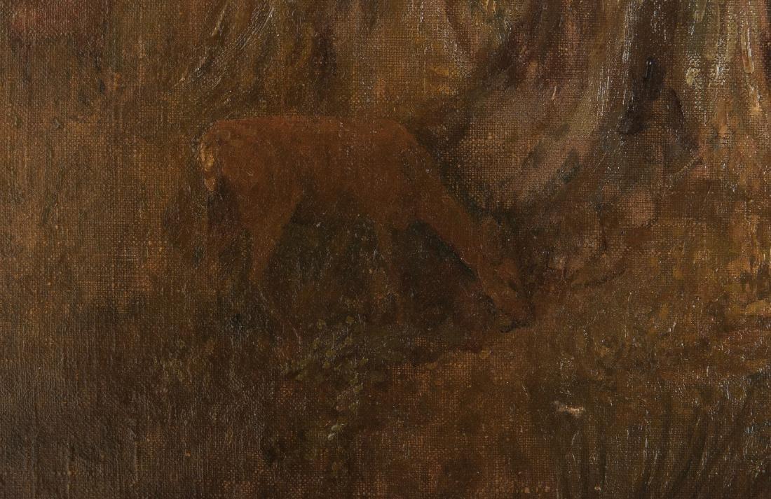 American School O/C, Deer at Pond Landscape - 9