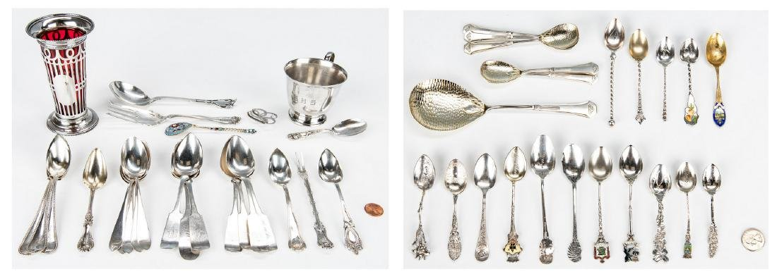 50 Items Assorted Sterling Flatware & other