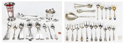 50 Items Assorted Sterling Flatware  other