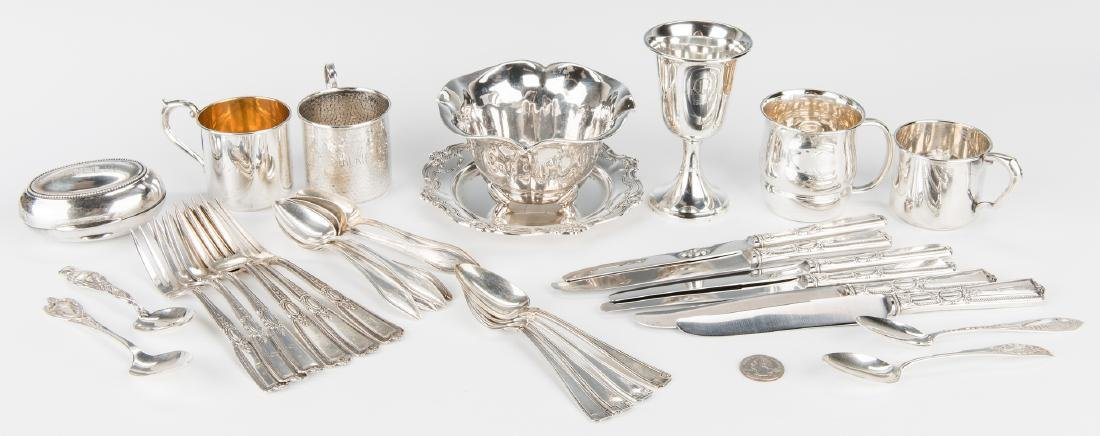Group Sterling Silver Tableware & Flatware, 34 Pcs. - 2