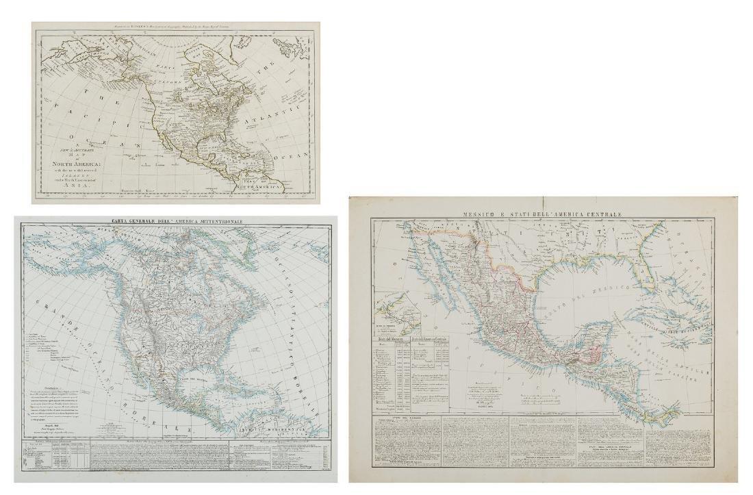 3 Maps of America, incl. Bowen, Marzolla