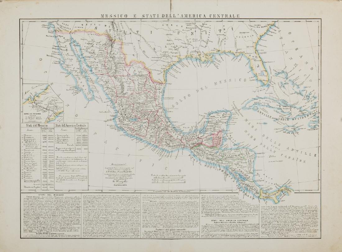 3 Maps of America, incl. Bowen, Marzolla - 3